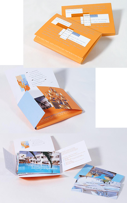 First corporate brochure for the hotel