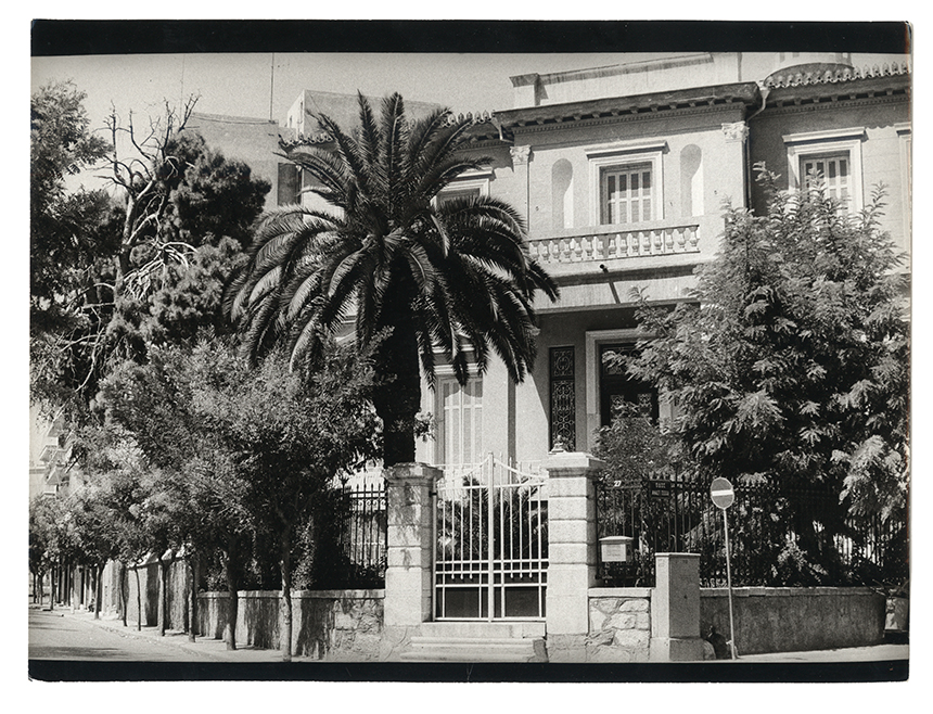 The historic neoclassical mansion that housed the Balthazar Restaurant (1973-1983)