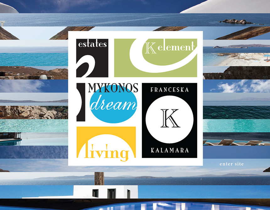 MykonosDreamLiving website design 2013