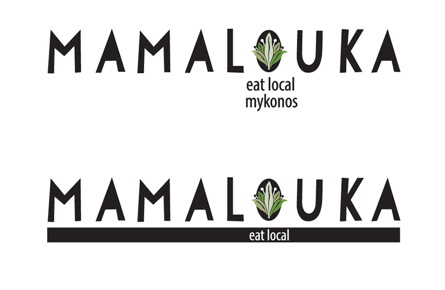 Name, by-line & logo for the new restaurant.